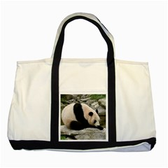 Giant Panda Two Tone Tote Bag