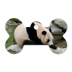 Giant Panda Dog Tag Bone (One Side)
