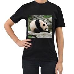 Giant Panda Women s Black T-Shirt