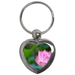 Red Pink Flower Key Chain (Heart)