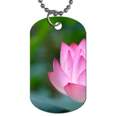 Red Pink Flower Dog Tag (One Side)