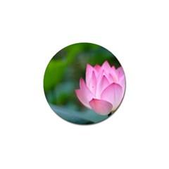 Red Pink Flower Golf Ball Marker