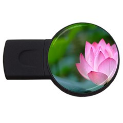 Red Pink Flower USB Flash Drive Round (1 GB)