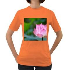 Red Pink Flower Women s Dark T Shirt
