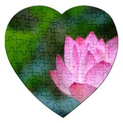 Red Pink Flower Jigsaw Puzzle (Heart)