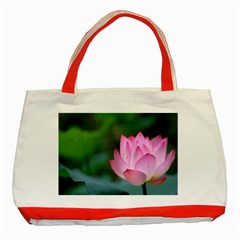 Red Pink Flower Classic Tote Bag (Red)