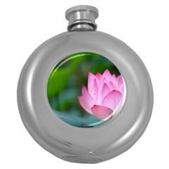 Red Pink Flower Hip Flask (5 oz)