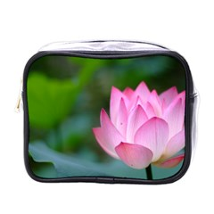 Red Pink Flower Mini Toiletries Bag (One Side)
