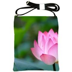 Red Pink Flower Shoulder Sling Bag