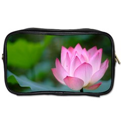 Red Pink Flower Toiletries Bag (one Side)
