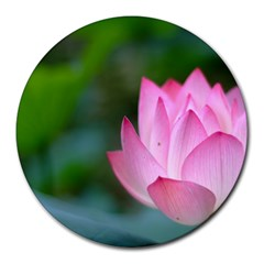 Pink Flowers Round Mousepad