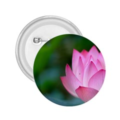 Pink Flowers 2.25  Button