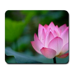 Pink Flowers Large Mousepad