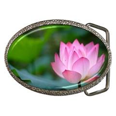 Pink Flowers Belt Buckle