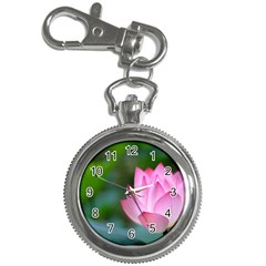 Pink Flowers Key Chain Watch