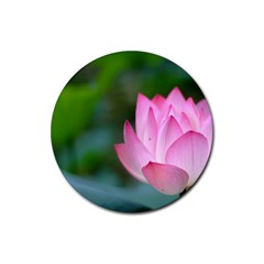 Pink Flowers Rubber Round Coaster (4 pack)