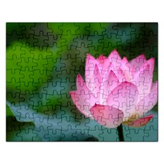Pink Flowers Jigsaw Puzzle (Rectangular)