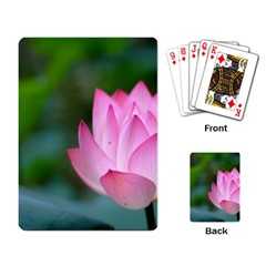 Pink Flowers Playing Cards Single Design