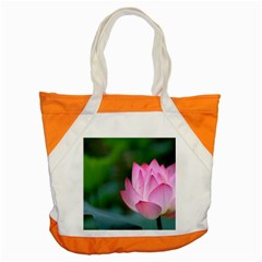 Pink Flowers Accent Tote Bag