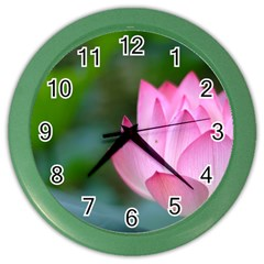 Pink Flowers Color Wall Clock