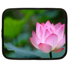 Pink Flowers Netbook Case (Large)