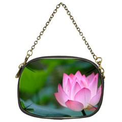 Pink Flowers Chain Purse (One Side)