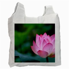 Pink Flowers Recycle Bag (One Side)