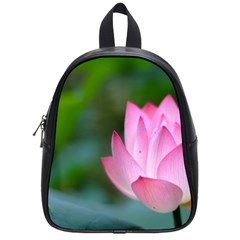 Pink Flowers School Bag (small)