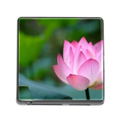 Pink Flowers Memory Card Reader with Storage (Square)
