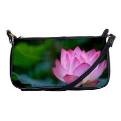 Pink Flowers Shoulder Clutch Bag
