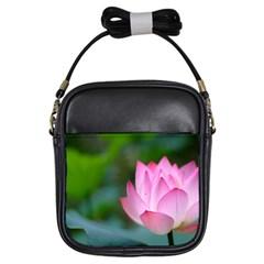 Pink Flowers Girls Sling Bag
