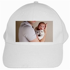 Father And Son Hug White Cap