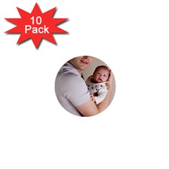 Father and Son Hug 1  Mini Button (10 pack)