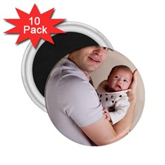 Father And Son Hug 2 25  Magnet (10 Pack)