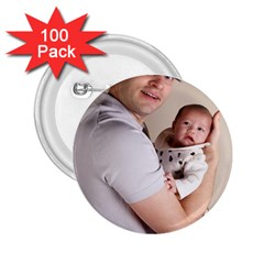 Father and Son Hug 2.25  Button (100 pack)