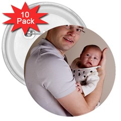 Father And Son Hug 3  Button (10 Pack)