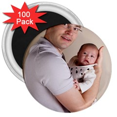 Father And Son Hug 3  Magnet (100 Pack)