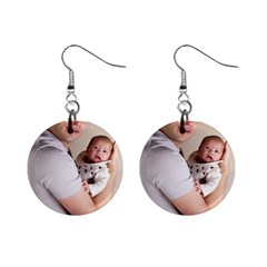 Father and Son Hug 1  Button Earrings