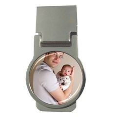 Father And Son Hug Money Clip (round)