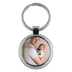 Father and Son Hug Key Chain (Round)