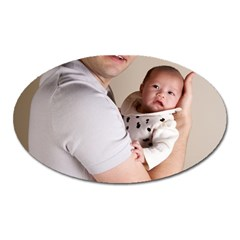 Father And Son Hug Magnet (oval)