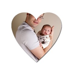 Father And Son Hug Magnet (heart)