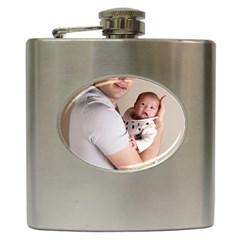Father and Son Hug Hip Flask (6 oz)
