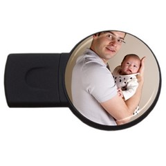 Father And Son Hug Usb Flash Drive Round (2 Gb)