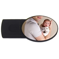 Father and Son Hug USB Flash Drive Oval (1 GB)