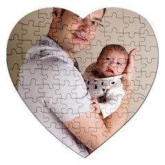 Father and Son Hug Jigsaw Puzzle (Heart)