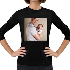 Father And Son Hug Women s Long Sleeve Dark T Shirt