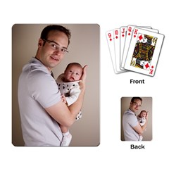 Father and Son Hug Playing Cards Single Design