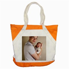 Father And Son Hug Accent Tote Bag