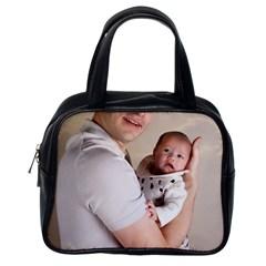 Father and Son Hug Classic Handbag (One Side)